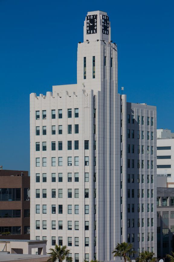 225 Santa Monica Blvd, 1929 Bay Cities Guaranty (Clocktower) Building, art deco